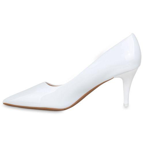 Billig Damen Schuhe Damen Pumps in Weiß 832659686