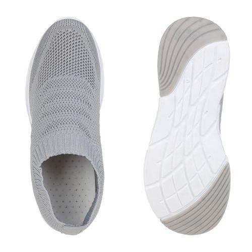 Billig Damen Schuhe Damen Sportschuhe in Hellgrau 832681486