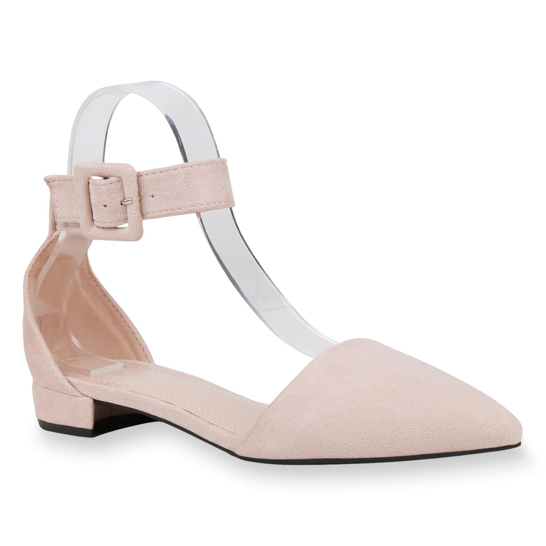 Ballerinas - Damen Ballerinas Riemchenballerinas Rosa › stiefelparadies.de  - Onlineshop Stiefelparadies
