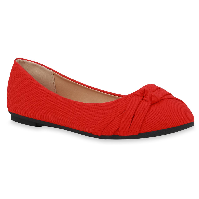 Ballerinas - Damen Klassische Ballerinas Rot › stiefelparadies.de  - Onlineshop Stiefelparadies