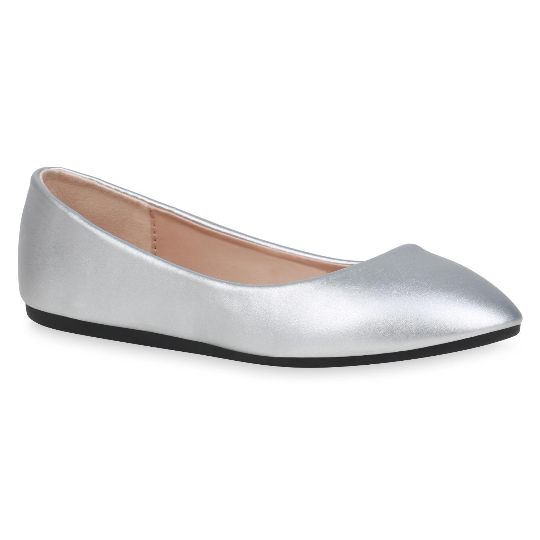 Indexbild 6 - Damen Klassische Ballerinas Leder-Optik Slipper Freizeitschuhe 832916 Schuhe