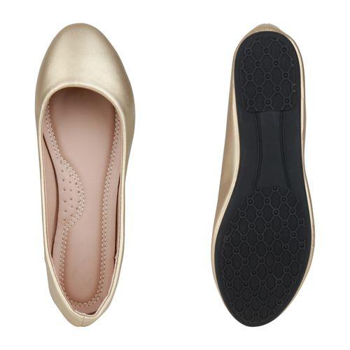 Damen Klassische Ballerinas - Gold Metallic