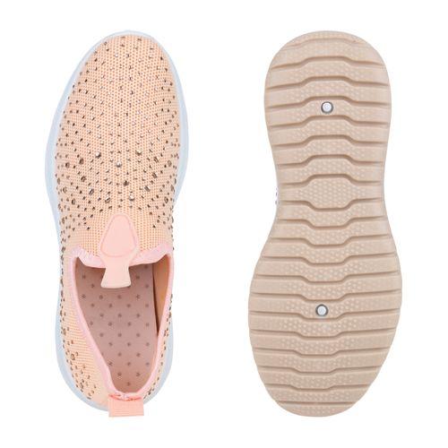 Damen Sportschuhe Slip Ons - Apricot