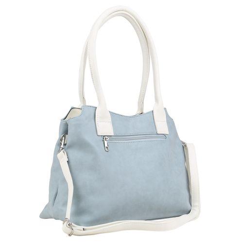 Damen Handtaschen - Hellblau Weiß