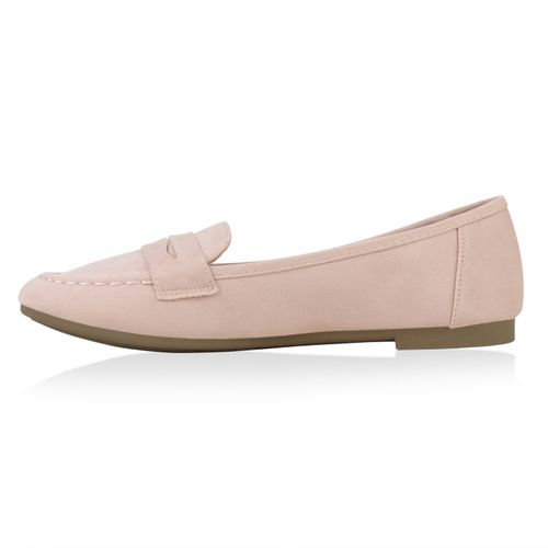 Damen Slippers Loafers - Rosa
