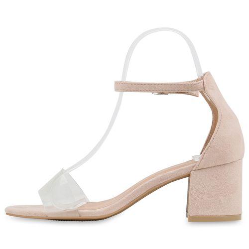 Damen Sandaletten Riemchensandaletten - Nude