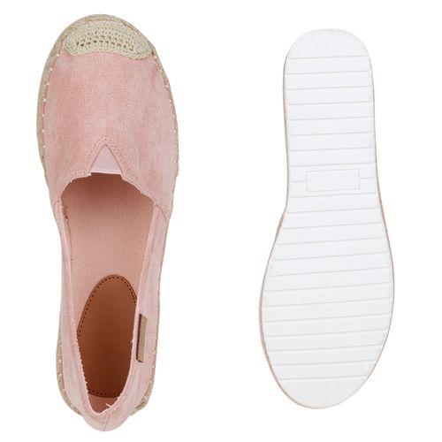 Damen Slippers Espadrilles - Altrosa
