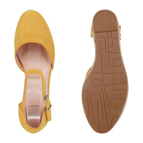 Billig Damen Schuhe Damen Sandaletten in Gelb 833497148