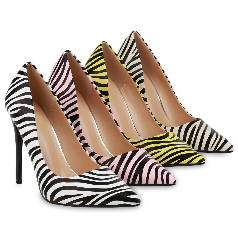 Damen Spitze Pumps Stiletto High Heels Animal Print Party Schuhe 833499 Schuhe