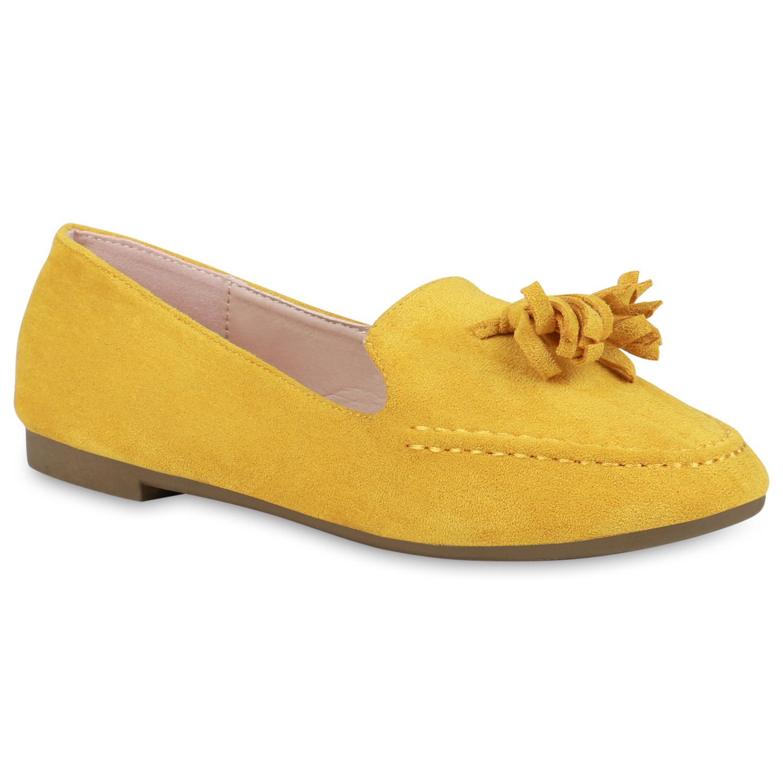 Slipper - Damen Slippers Loafers Gelb › stiefelparadies.de  - Onlineshop Stiefelparadies