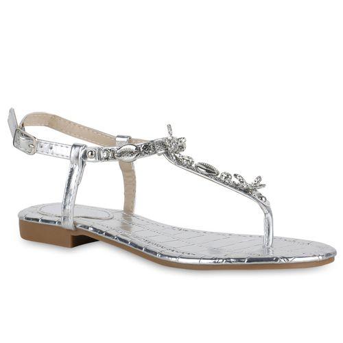 sandalen damen silber metallic