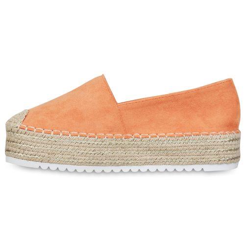 Damen Slippers Espadrilles - Orange