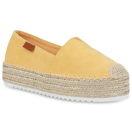Damen Slippers Espadrilles - Gelb