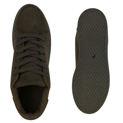 Billig Damen Schuhe Damen Sneaker in Olivgrün 8336711354