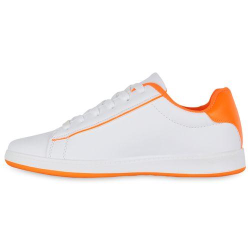 Damen Sneaker low - Weiß Neon Orange