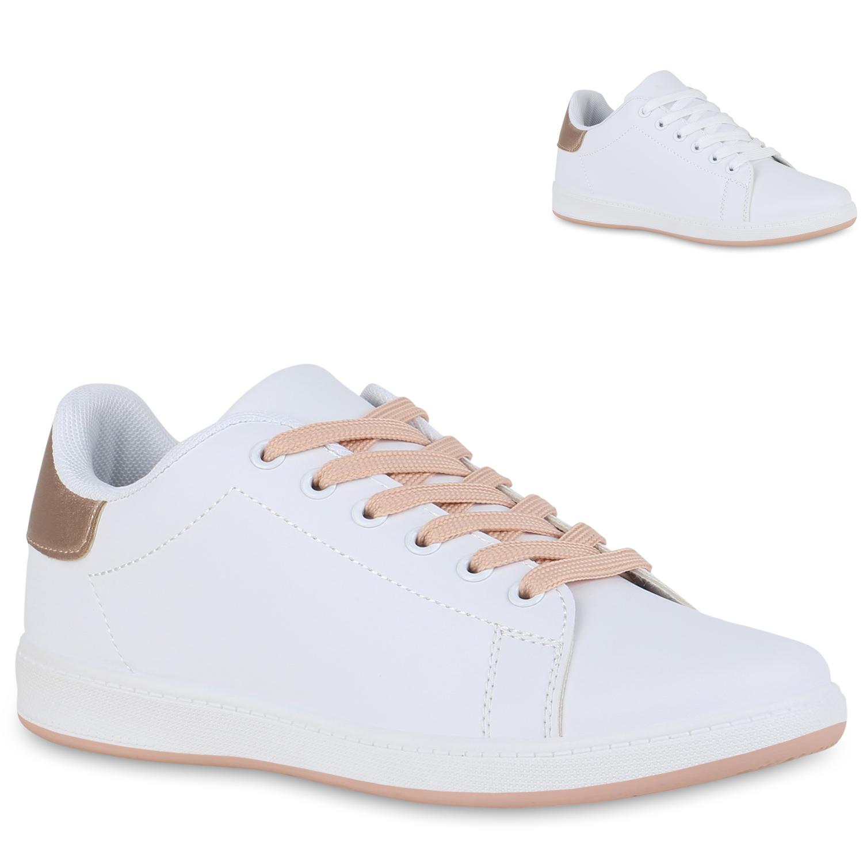 Damen Sneaker low Weiß Rose Gold