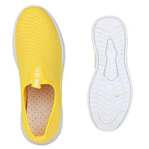 Damen Sportschuhe Slip Ons - Gelb