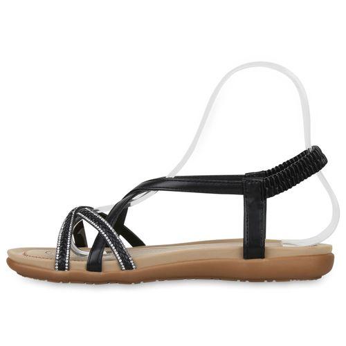 Billig Damen Schuhe Damen Sandalen in Schwarz 8338703401