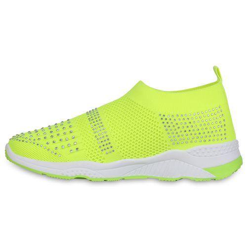 Billig Damen Schuhe Damen Sportschuhe in Neon Gelb 833916776