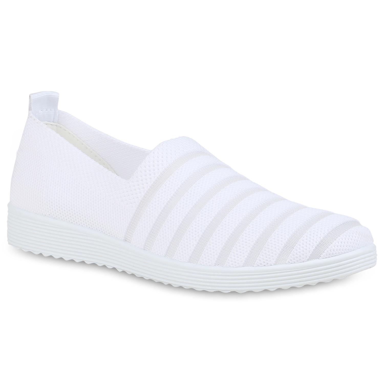 Damen Slippers Slip Ons - Weiß