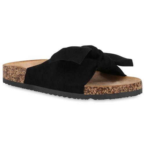 Damen Sandalen Pantoletten - Schwarz