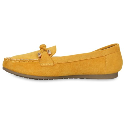 Damen Slippers Mokassins - Hellorange