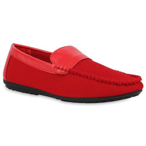 Herren Slippers Mokassins - Rot
