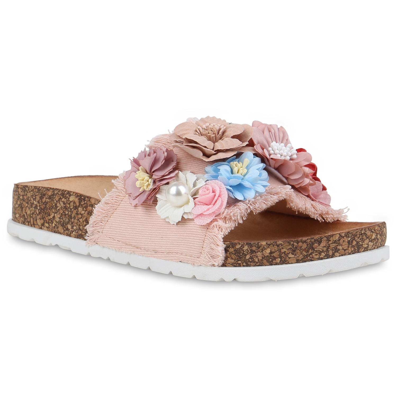 Damen Sandalen Pantoletten - Rosa