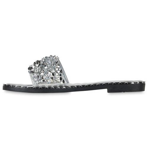 Billig Damen Schuhe Damen Sandalen in Silber 834330526