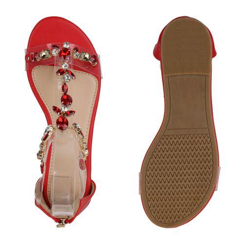 Billig Damen Schuhe Damen Sandalen in Rot 834473523