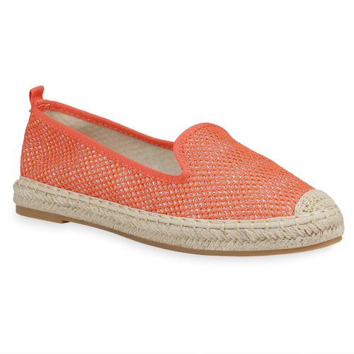 Damen Slippers Espadrilles - Orange