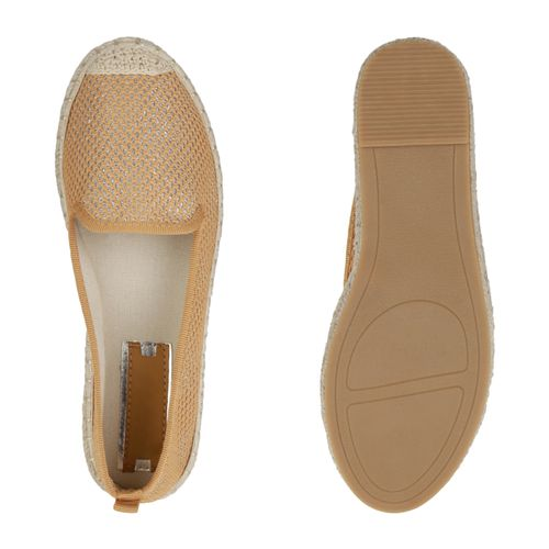 Damen Slippers Espadrilles - Tan
