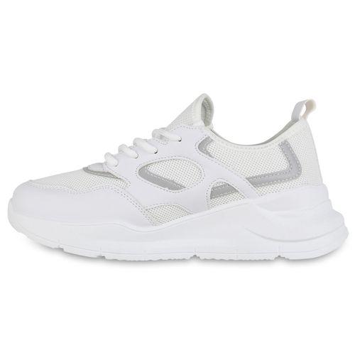 Damen Sportschuhe Laufschuhe - Weiß Holo 96421549