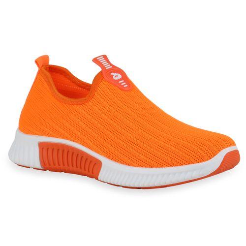 Damen Sportschuhe Slip Ons - Neon Orange