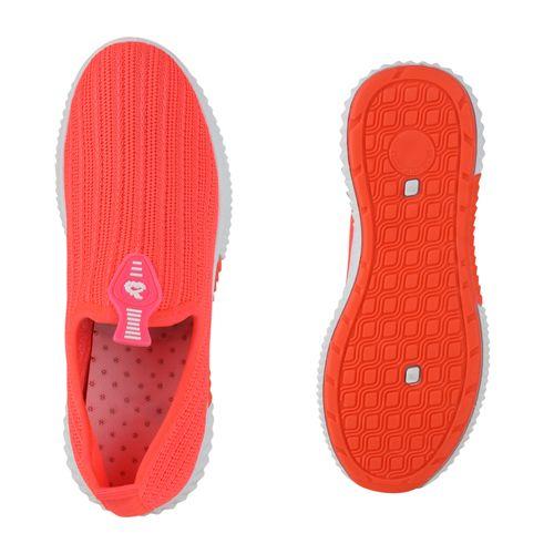 Damen Sportschuhe Slip Ons - Neon Rot