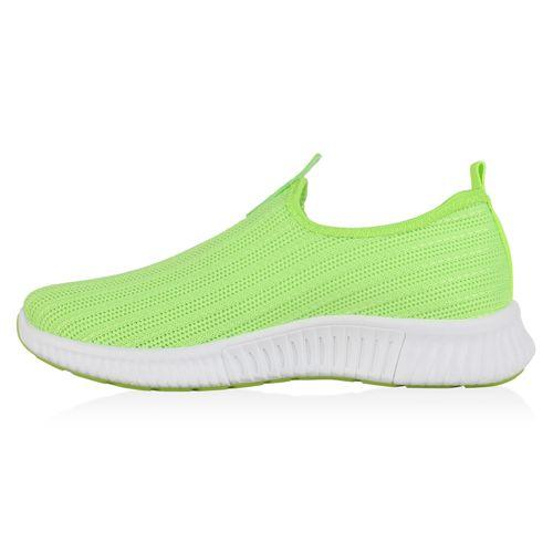 Damen Sportschuhe Slip Ons - Neon Grün