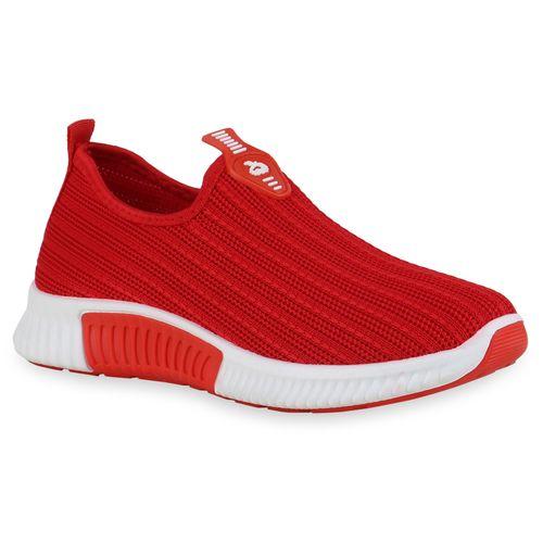 Damen Sportschuhe Slip Ons - Rot
