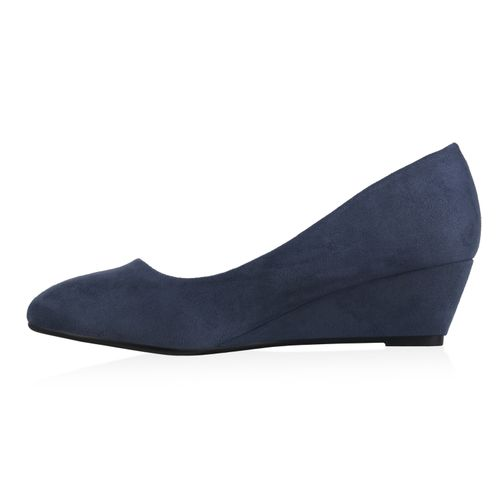 Damen Pumps Keilpumps - Blau