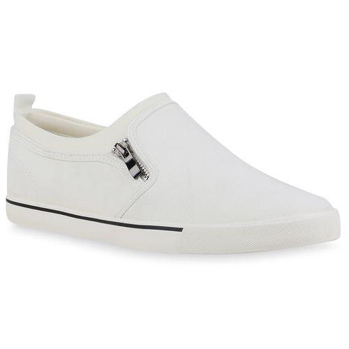 Herren Sneaker Slip Ons - Weiß
