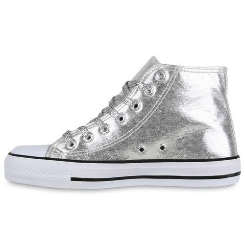 Billig Damen Schuhe Damen Sneaker in Silber 835097526