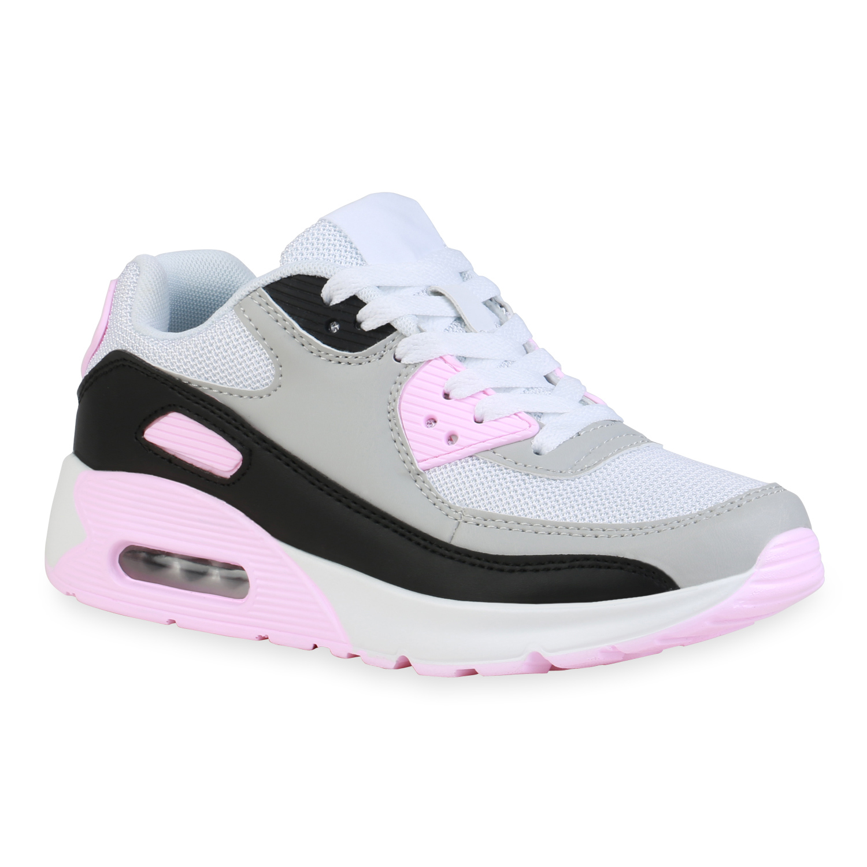 Damen Sportschuhe Laufschuhe - Weiß Grau Rosa