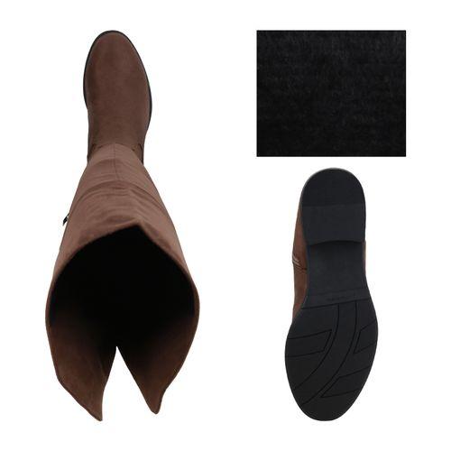 Damen Stiefel Overknees - Schlamm