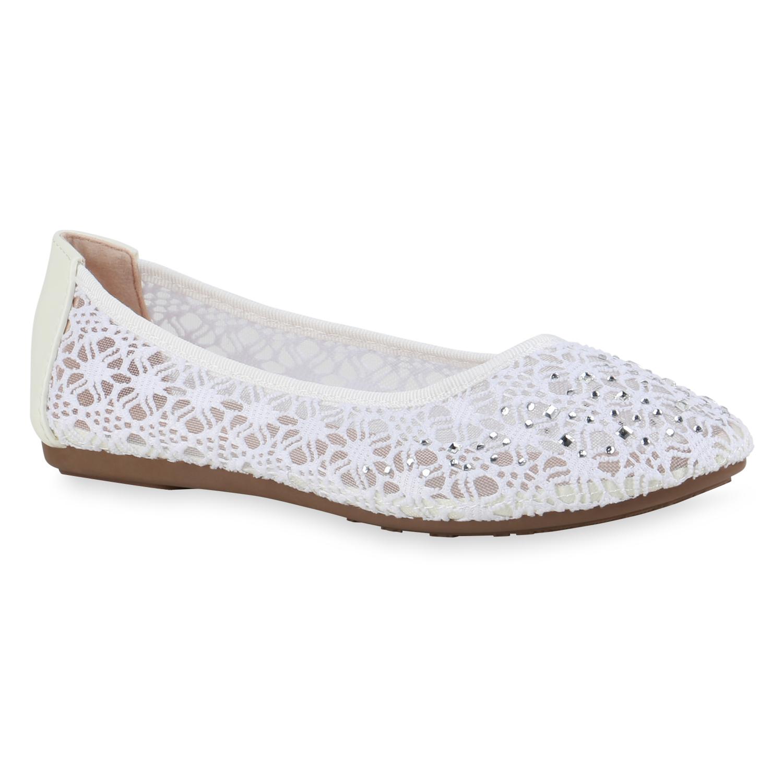 Indexbild 17 - Damen Klassische Ballerinas Leder-Optik Slipper Freizeitschuhe 832916 Schuhe