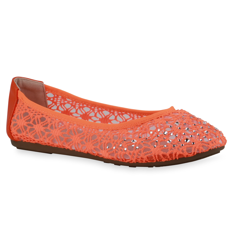 Indexbild 18 - Damen Klassische Ballerinas Leder-Optik Slipper Freizeitschuhe 832916 Schuhe