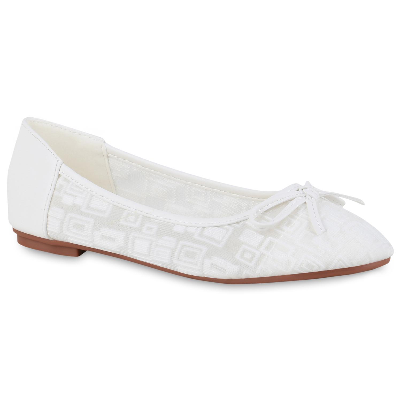 Indexbild 11 - Damen Klassische Ballerinas Leder-Optik Slipper Freizeitschuhe 832916 Schuhe