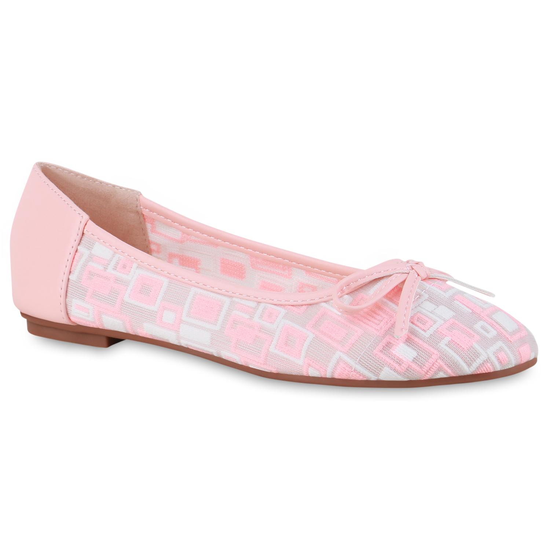 Indexbild 32 - Damen Klassische Ballerinas Leder-Optik Slipper Freizeitschuhe 832916 Schuhe