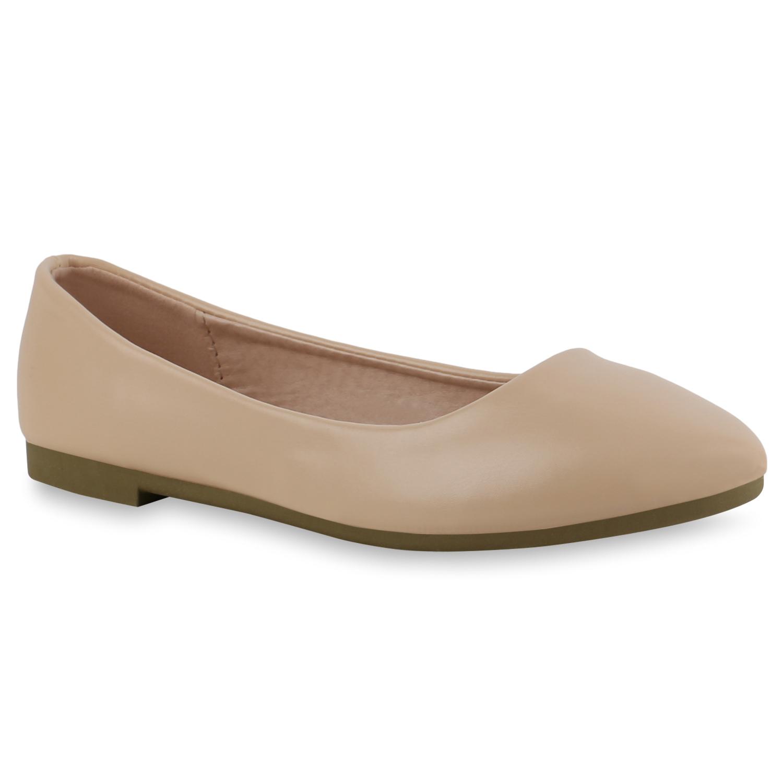 Indexbild 24 - Damen Klassische Ballerinas Leder-Optik Slipper Freizeitschuhe 832916 Schuhe