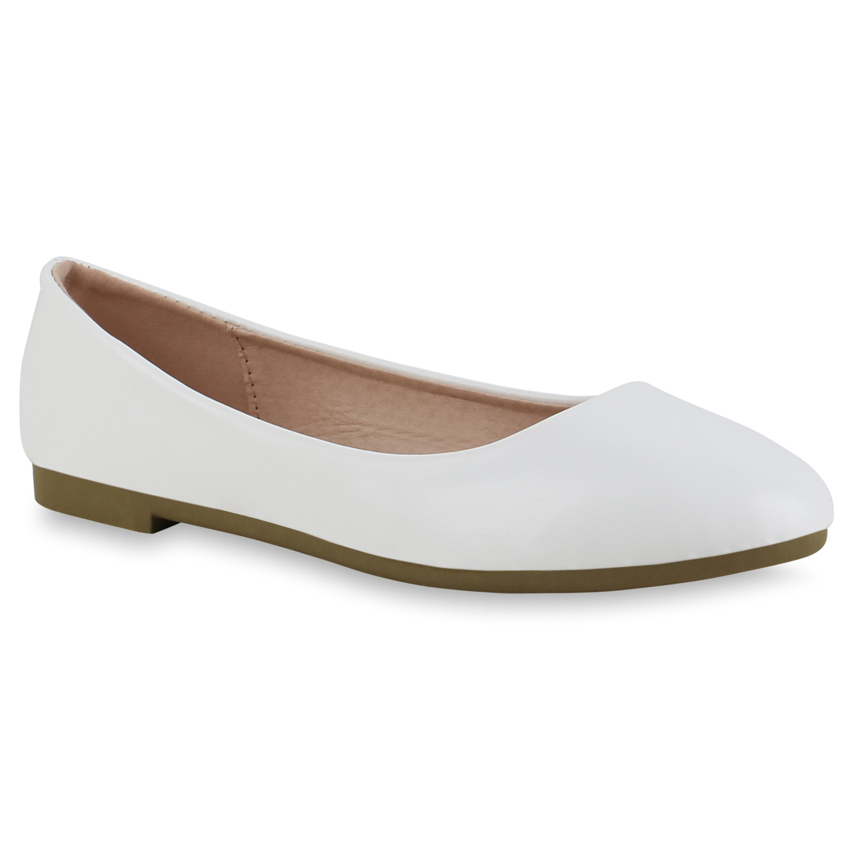 Indexbild 25 - Damen Klassische Ballerinas Leder-Optik Slipper Freizeitschuhe 832916 Schuhe