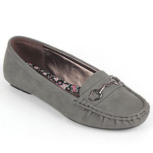Damen Slippers Mokassins - Grau