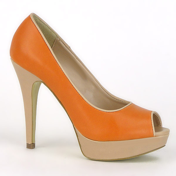 Damen Pumps Peeptoes - Orange